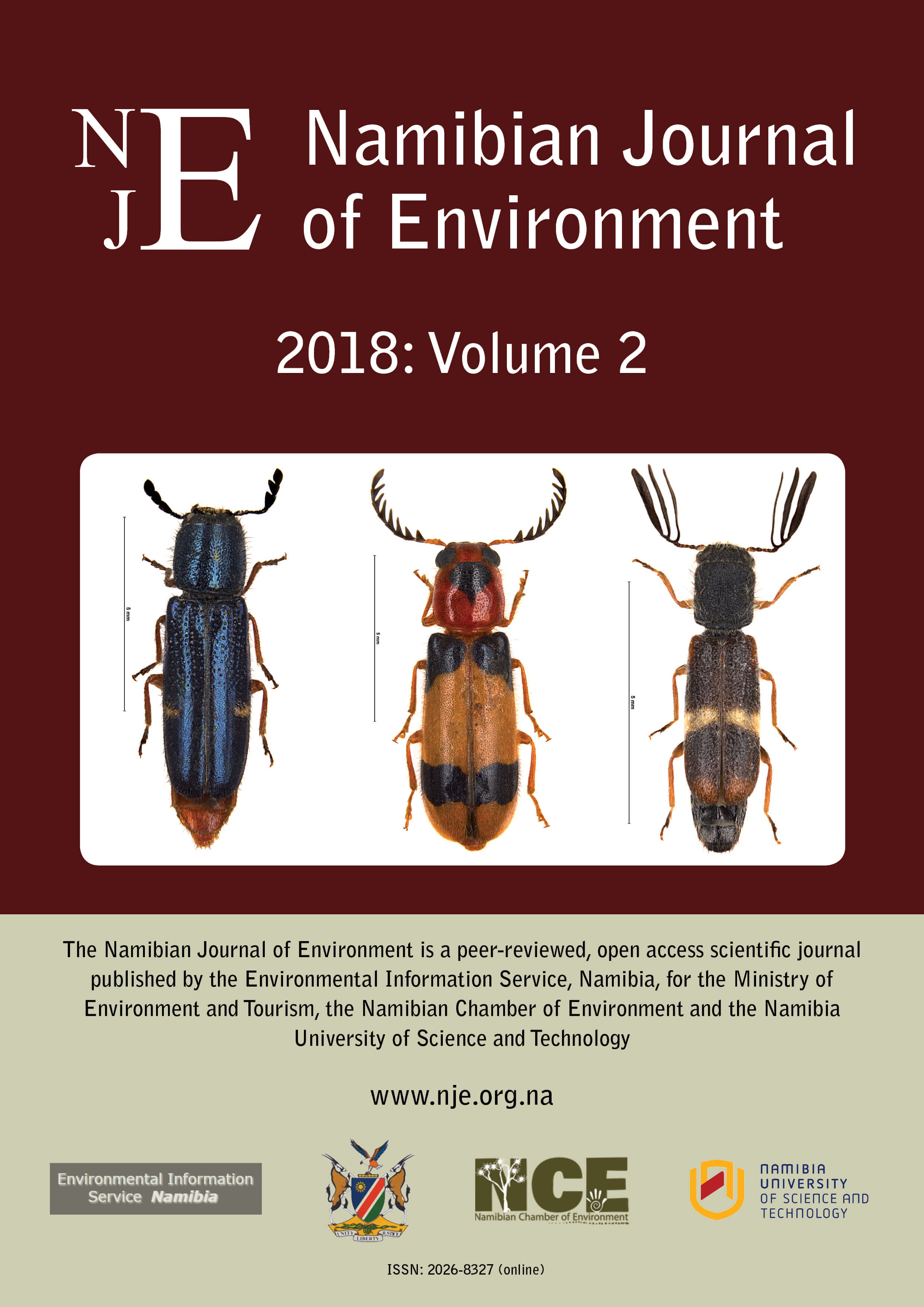 Cover of Namibian Journal of Environment 2018 Volume 2