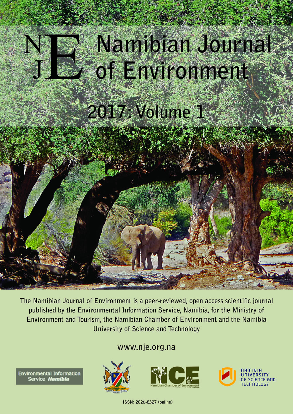 Cover of Namibian Journal of Environment 2017 Volume 1